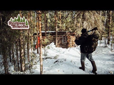 Поход в лес весной. Часть 1/2 (зима, лес, охота)