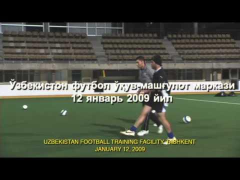 Ekstremalny trening uzbeckich piłkarzy