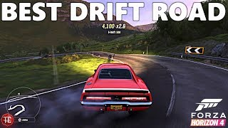 Forza Horizon 4: BEST DRIVING/DRIFT ROAD!! Location and Gameplay