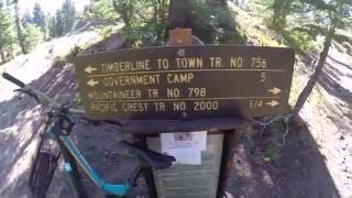Shredding the Timberline to Town Trail.