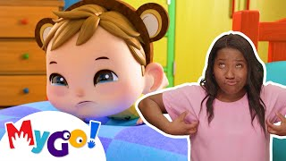 5 Little Monkeys Jumping On The Bed | ASL - American Sign Language | Baby Songs | Little Baby Bum