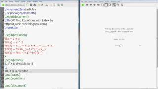 Latex Tutorial How to write mathematics equations in Latex