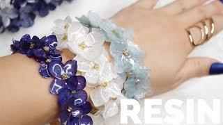 【RESIN】紫陽花バングル(プリザーブドフラワー)/How To Make Resin Hydrangea Bangle