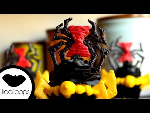 How to Make Black Widow Cupcakes | Become a Baking Rockstar