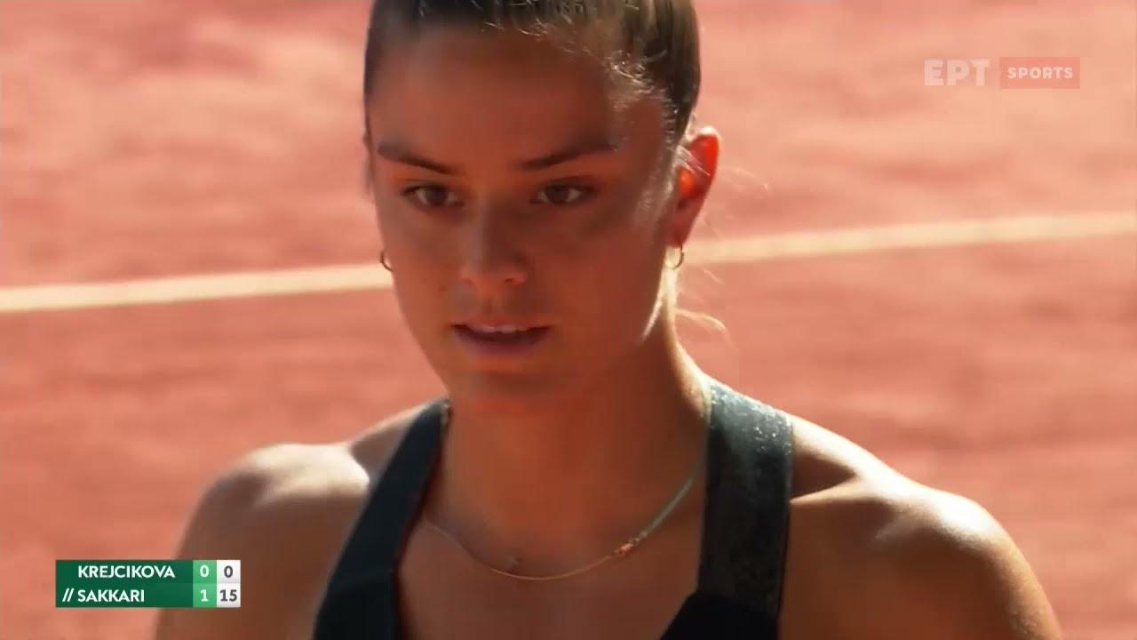 Roland Garros   Μπ. Κρεϊτσίκοβα – Μ. Σάκκαρη 2-1   HIGHLIGHTS   10/06/2021   ΕΡΤ