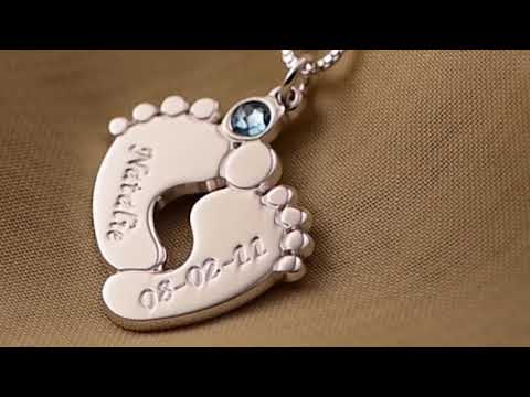 Personalisierte Babyfuß Halskette