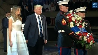 Trumps Lay Wreath To Honor Holocaust Dead