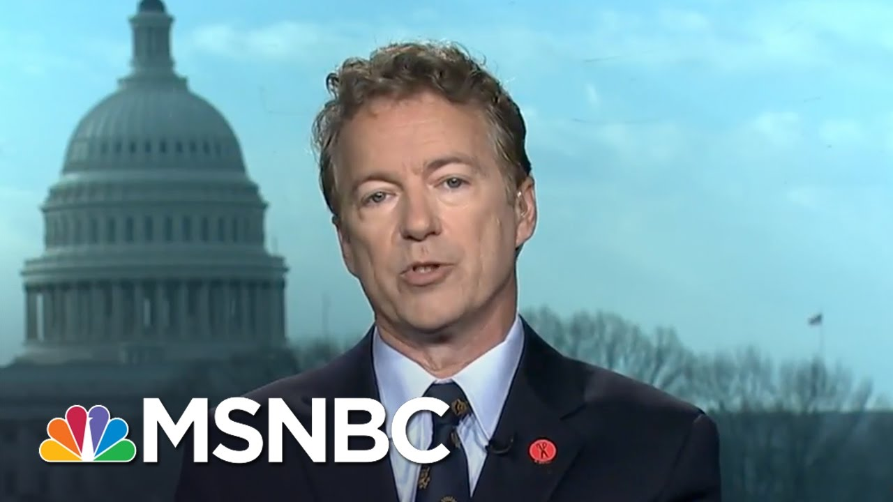 Senator Rand Paul Speaks After Health Care Meeting Lock Out | Morning Joe | MSNBC thumbnail
