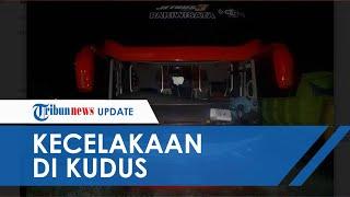 Akibat Terobos Lampu Merah, Sebuah Sepeda Motor Tertabrak Bus di Kudus, Satu Orang Tewas