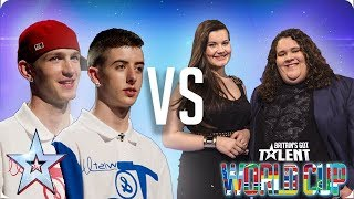 Twist & Pulse vs Jonathan & Charlotte | Britain's Got Talent World Cup 2018 - Video Youtube