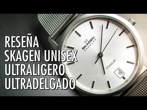 797d68ba1 Reseña Skagen Denmark 170LTTW Reloj Ultraliviano de Cuarzo en Español