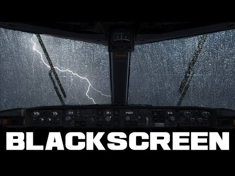 Thunderstorm and Rain Sounds Black Screen for Sleep Relaxation Study Mindful Rest
