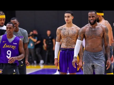 LeBron James First Lakers Practice