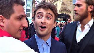 DANIEL RADCLIFFE Signs A LUMOS Harry Potter Costume-set For Charity @ What If Premiere, London
