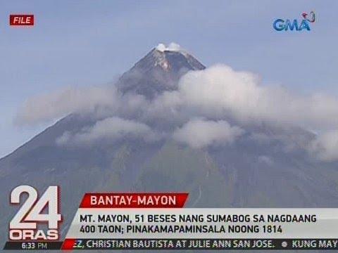 24 Oras: Mt. Mayon, 51 beses nang sumabog sa nagdaang 400 taon; pinakamapaminsala noong 1814
