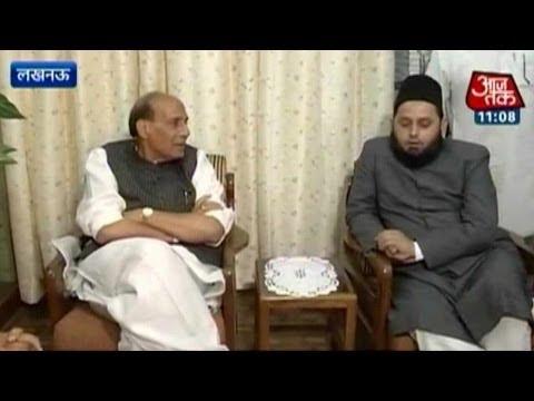 Rajnath Singh meets Muslim clerics to seek support for BJP