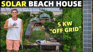 BecomingFilipino – SOLAR ENERGY BEACH HOUSE – No More Electric Bills In The Philippines (100% OFF GRID)