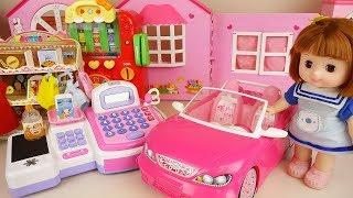 Baby doll car and mini mart play baby Doli house