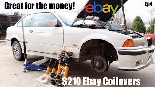 "Ep4 How To Install E36 Ebay ""BR Coilovers"" Good or Junk?"