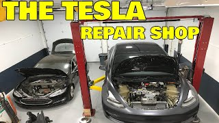 Inside The Electrified Garage, A third party Tesla repair shop