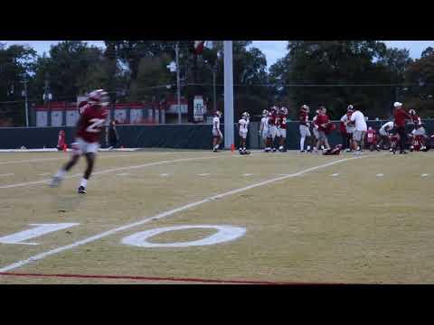 WATCH: Xavier McKinney take Alabama DB's through tackling and high-point drills