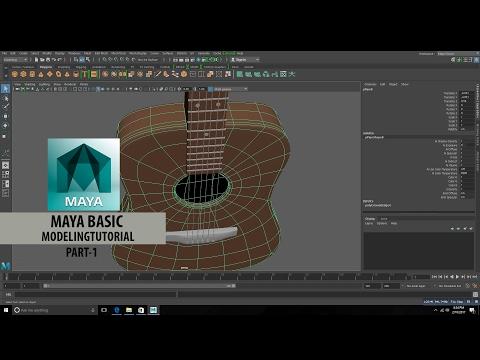 Maya Tutorial for Beginners – Modelling Guitar-Part-1