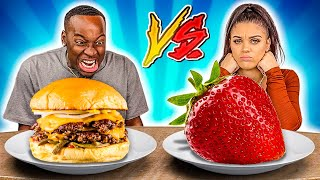HEALTHY VS JUNK FOOD CHALLENGE