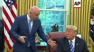 Trump meets FIFA president, talks World Cup 2026