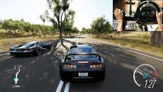 1000HP Toyota Supra - Forza Horizon 3 (Logitech g29) gameplay