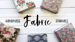 New Fabric Junk Journals | Handmade Books | Vintage Style Florals | Rosy Journal