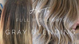 Full Highlights + Gray Blending    Hair Tutorial