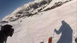 preview picture of video 'Descens Miquel a El Tarter, Granvalira amb la GoPro Hero2'