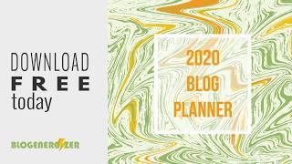 2020 Weekly Blog Planner