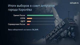 В Королёве подвели итоги выборов в городской совет депутатов