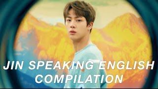 jin (bts) speaking english compilation - UPDATED 2017 ♡