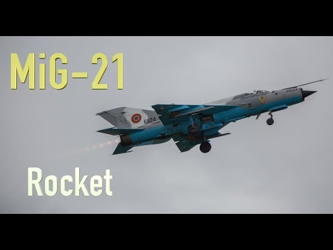 Mig-21 Rocket with the wings Spectacular Takeoff RIAT 2019 4K video