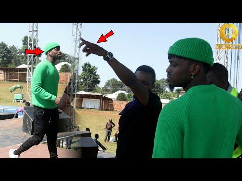 Jionee MBWEMBWE za DIAMOND PLATNUMZ akikagua jukwaa la WASAFI FESTIVAL wilayani MULEBA.