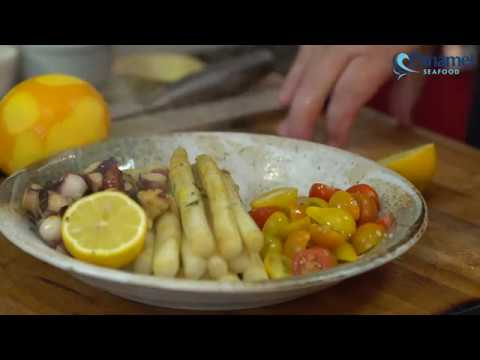 Ensalada esparragos y pulpo by Chef Luigi Puello