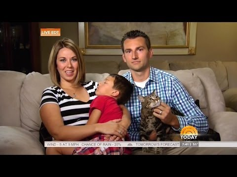 Hero House Cat Saves Boy From Dog Attack - Today Show - May 15 2014