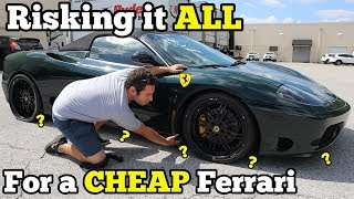 I Bought a TOTALED FERRARI at Salvage Auction with MYSTERY Undercarriage Damage SIGHT UNSEEN!