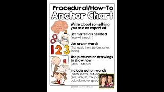 "Writing Workshop: ""How To"" Anchor Chart (March 16, 2020)"