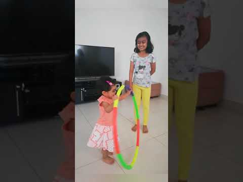 Playing with sister