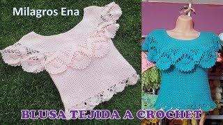 Blusa Tejida a Crochet para Verano parte 2 de 2