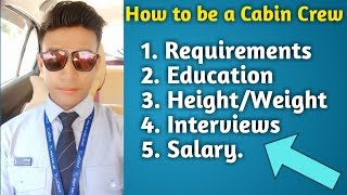 How to become a cabin crew | How to become an Air hostess | cabin crew requirements |