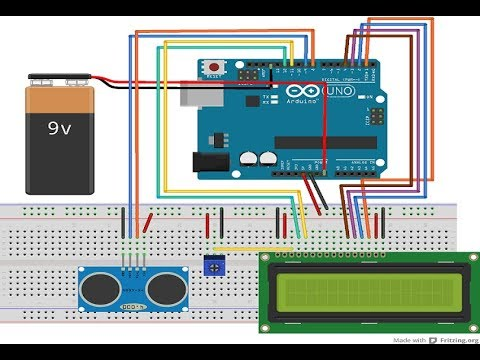 BANGGOOD How to make measure distance with arduino and ultrasonic sensor HC-SR04 and LCD Display