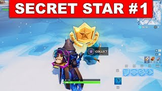 SECRET BATTLE STAR WEEK 1 SEASON 7 LOCATION! - Fortnite Battle Royale (Snowfall Challenges)