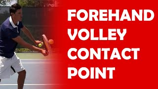Contact Point On Volley | VOLLEY