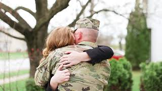 Husband Returns Home From Afghanistan | A Military Homecoming