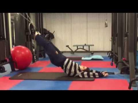 Serie di esercizi da scoliosis
