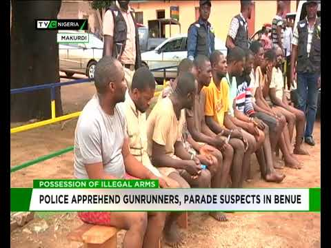 Police apprehend gunrunners, parade suspects in Benue
